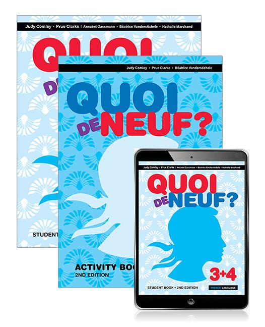 Quoi de Neuf ? 3+4 Student Book, eBook and Activity Book