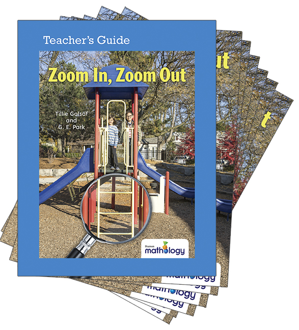 Mathology Little Books - Geometry: Zoom In, Zoom Out (6 Pack with Teacher's Guide)