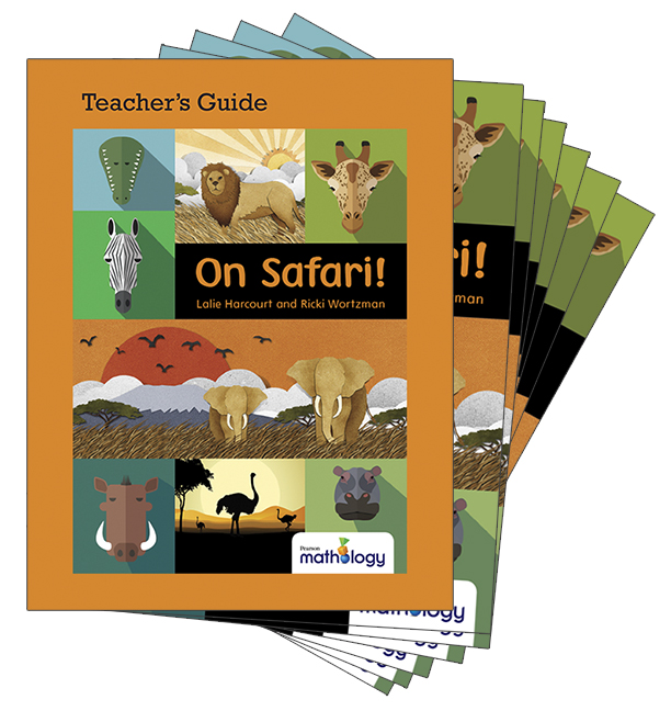 Mathology Little Books - Number: On Safari! (6 Pack with Teacher's Guide)