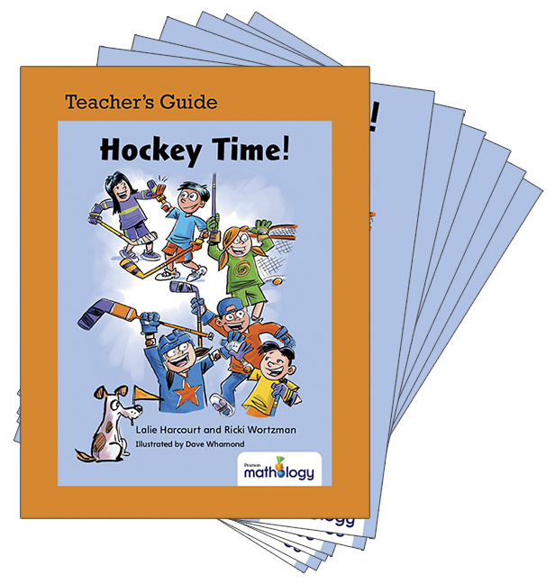 Mathology Little Books - Number: Hockey Time! (6 Pack with Teacher's Guide)