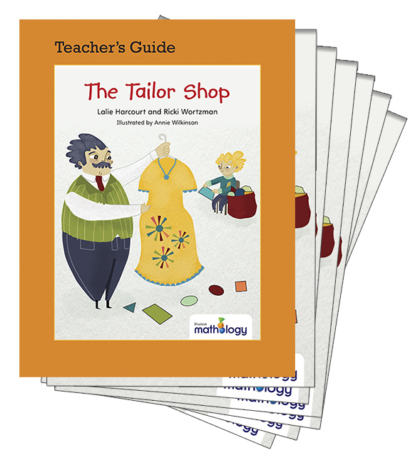 Mathology Little Books - Geometry: The Tailor Shop (6 Pack with Teacher's Guide)