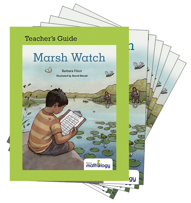 Mathology Little Books - Data Management and Probability: Marsh Watch (6 Pack with Teacher's Guide)