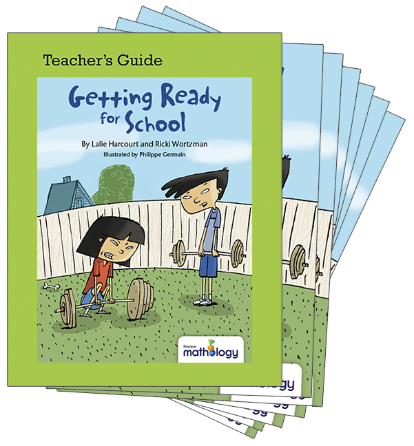 Mathology Little Books - Measurement: Getting Ready for School (6 Pack with Teacher's Guide)
