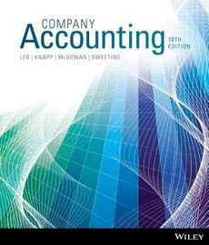 Company Accounting 10e Wileyplus Stand-Alone Card