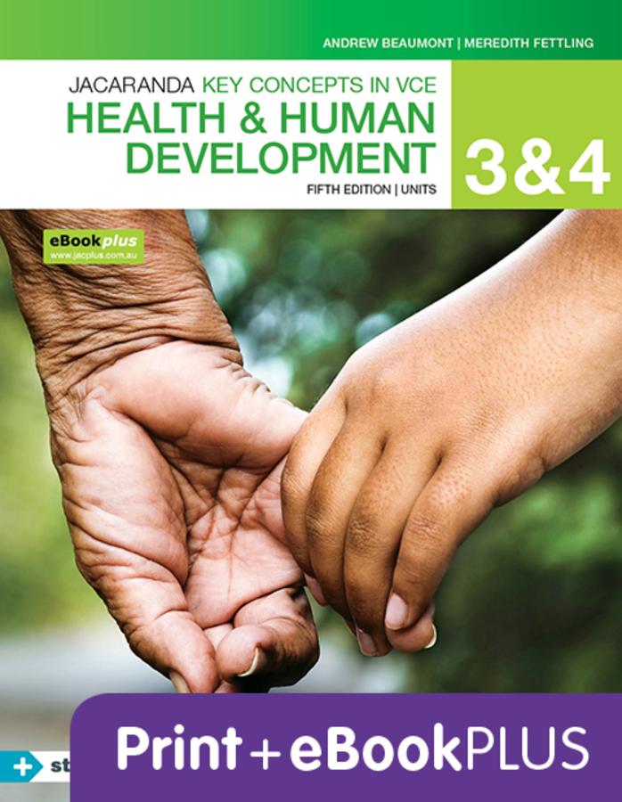 Key concepts VCE Health and Human development U 3&4 4E EBK & PRINT+S/ON