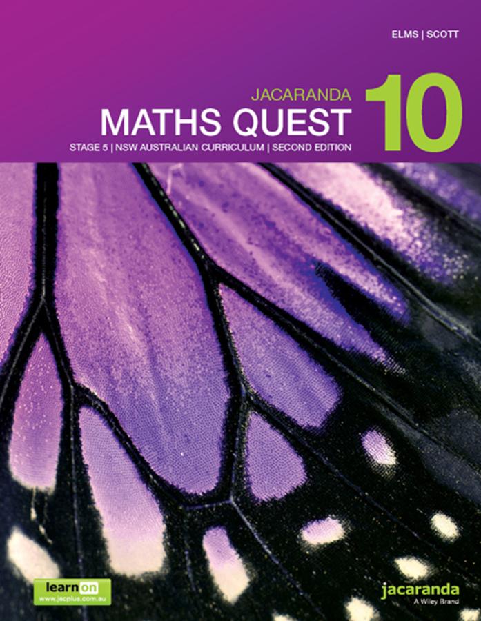 Jacaranda Maths Quest 10 Stage 5 NSW Australian curriculum 2e learnON & print