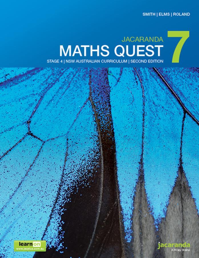Jacaranda Maths Quest 7 Stage 4 NSW Australian curriculum 2e learnON & Print