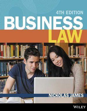 BUSINESS LAW 4E (BLACK & WHITE) OPEN BOOK EXAM COMPANION WITH WILEYPLUS LEARNING SPACE REGISTRATION CODE