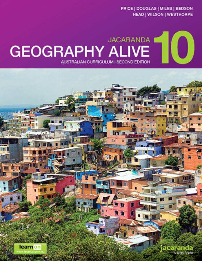 Jacaranda Geography Alive 10 Australian Curriculum 2e learnON & Print