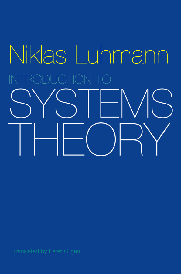 Introduction to Systems Theory