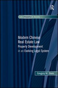 Modern Chinese Real Estate Law