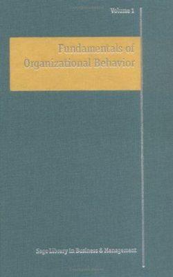 Fundamentals of Organisational Behaviour 4Vol Set