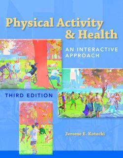Physical Activity & Health : An Interactive Approach