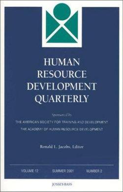 Human Resource Development Quarterly, Volume 12 , Number 2, Summer 2001