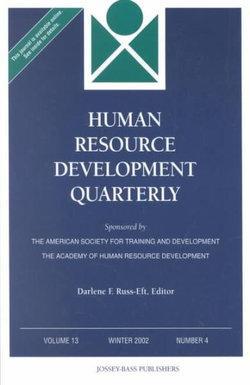 Human Resource Development Quarterly, Volume 13, Number 4, Winter 2002