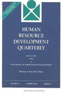 Human Resource Development Quarterly, Volume 15, Number 2, Summer 2004