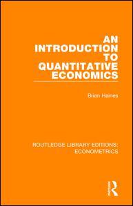 An Introduction to Quantitative Economics