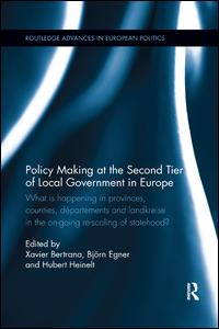 Policy Making at the Second Tier of Local Government in Europe