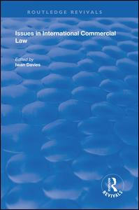 Issues in International Commercial Law