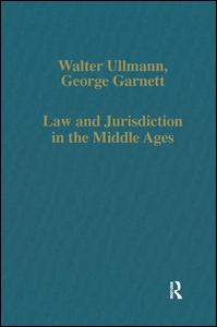 Law and Jurisdiction in the Middle Ages