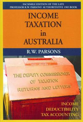 Income Tax in Aust: Principles of Income