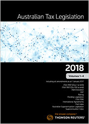 Australian Tax Legislation 2018 Vol 1-3