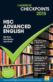 Cambridge Checkpoints HSC Advanced English 2015