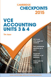 Cambridge Checkpoints VCE Accounting Units 3&4 2015