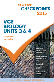 Cambridge Checkpoints VCE Biology Units 3 and 4 2015