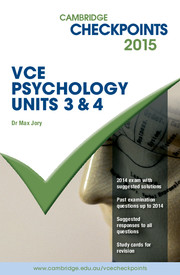Cambridge Checkpoints VCE Psychology Units 3 and 4 2015 and Quiz Me More
