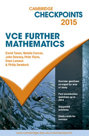Cambridge Checkpoints VCE Further Mathematics 2015 and Quiz Me More