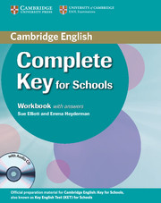Complete Key for Schools Student's Pack with Answers (Student's Book with CD-ROM, Workbook with Audio CD)