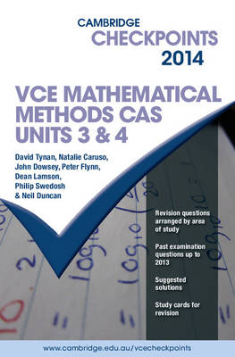 Cambridge Checkpoints VCE Mathematical Methods CAS Units 3 and 4 2014