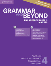 Grammar and Beyond Level 4 Enhanced Teacher's Manual with CD-ROM