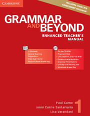 Grammar and Beyond Level 1 Enhanced Teacher's Manual with CD-ROM