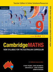 Cambridge Mathematics NSW Syllabus for the Australian Curriculum Year 9 5.1 and 5.2 Teacher Edition