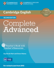 Complete Advanced Teacher's Book with Teacher's Resources CD-ROM