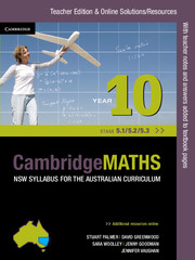 Cambridge Mathematics NSW Syllabus for the Australian Curriculum Year 10 5.1, 5.2 and 5.3 Teacher Edition