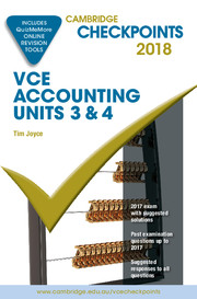 Cambridge Checkpoints VCE Accounting Units 3&4 2018 and Quiz Me More