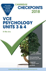 Cambridge Checkpoints VCE Psychology Units 3 and 4 2018 and Quiz Me More