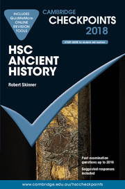 Cambridge Checkpoints HSC Ancient History 2018 and Quiz Me More