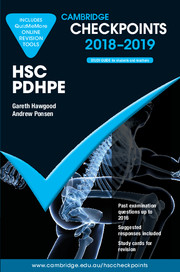 Cambridge Checkpoints HSC Personal Development, Health and Physical Education 2018-19 and Quiz Me More