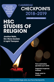 Cambridge Checkpoints HSC Studies of Religion 2018-19 and Quiz Me More