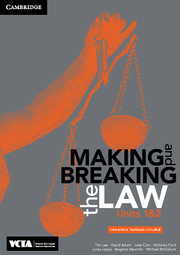 Cambridge Making and Breaking the Law VCE Units 1 and 2