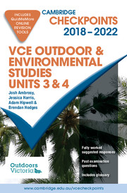 Cambridge Checkpoints VCE Outdoor and Environmental Studies 2018-22