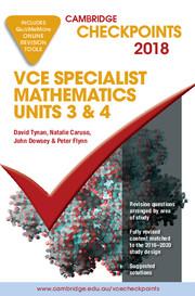 Cambridge Checkpoints VCE Specialist Mathematics 2018 and Quiz me More