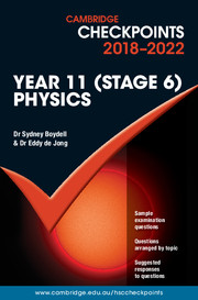Cambridge Checkpoints Year 11 (Stage 6) Physics