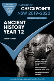 Cambridge Checkpoints NSW 2019-20 Ancient History Year 12 and QuizMeMore