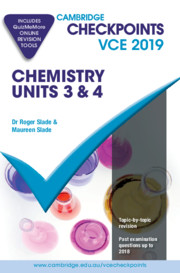 Cambridge Checkpoints VCE Chemistry Units 3 and 4 2019 and QuizMeMore