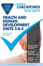Cambridge Checkpoints VCE Health and Human Development Units 3 and 4 2019 and QuizMeMore